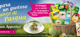 Omaggio con acquisto Unilever: mini casseruola + kit di 10 prodotti gratis