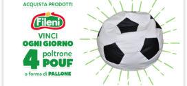 Fileni: Vinci poltrona pouf a forma di pallone