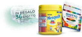 Premio sicuro: Pennarelli Giotto omaggio con Nesquik