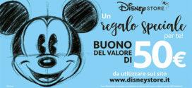 Vinci buono Disney Store da 50 €uro
