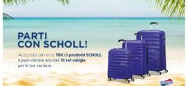 Parti Con Scholl: Vinci valigie American Tourister