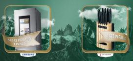 Vinci Con Senfter: Ceppi di coltelli e frigorifero Samsung